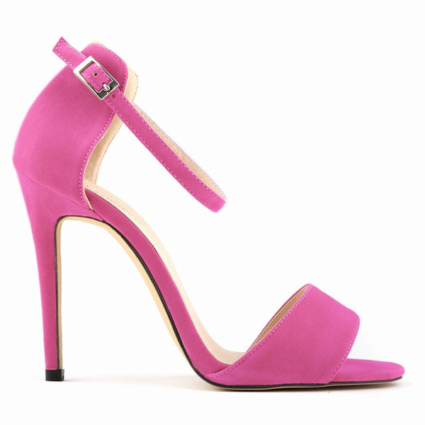 Suede Peep-Toe Sexy High Heels Women's Sandals