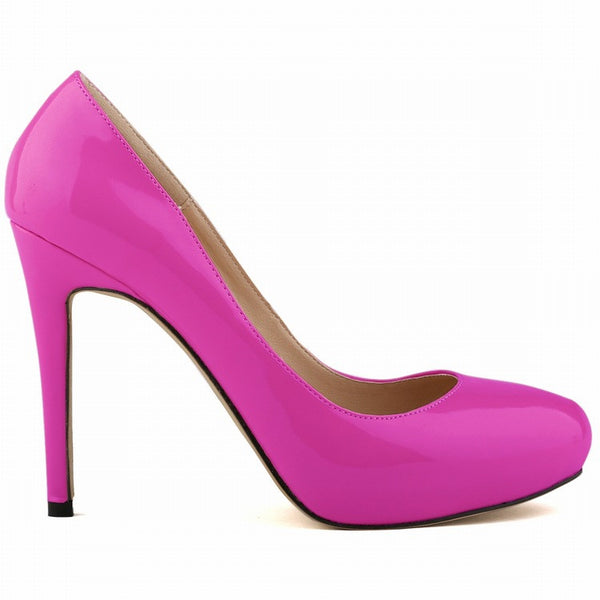 Fashion Patent Leather Super High Heels Bride Shoes