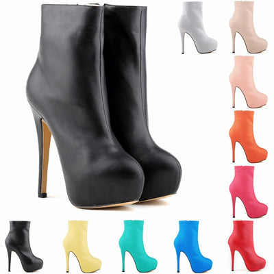 Sexy Ultra High Heel Platform Short Boots