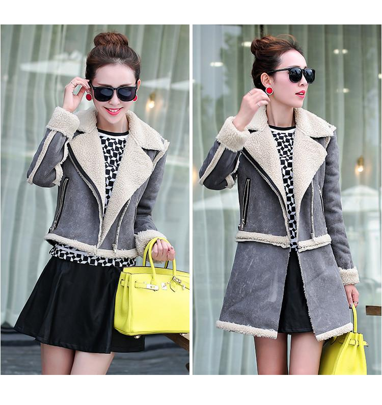 Lamb Wool Jacket with Removable Hem - Meet Yours Fashion - 1