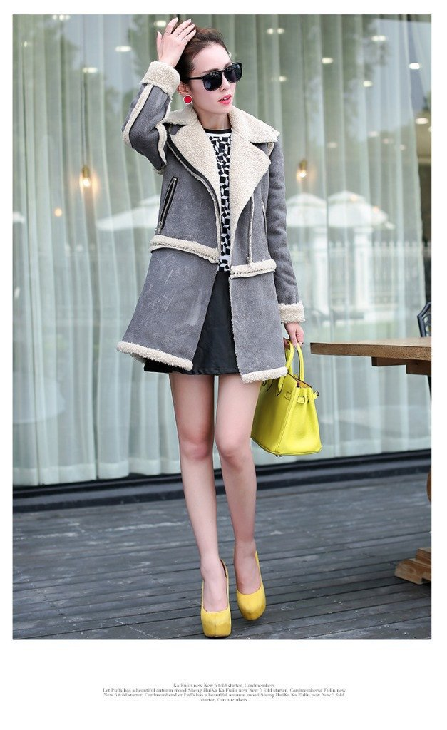 Lamb Wool Jacket with Removable Hem - Meet Yours Fashion - 4