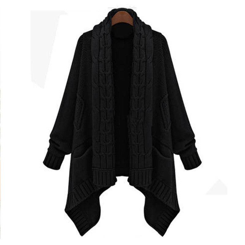 Cardigan Loose Upset Asymmetric Pure Color Sweater - Meet Yours Fashion - 3