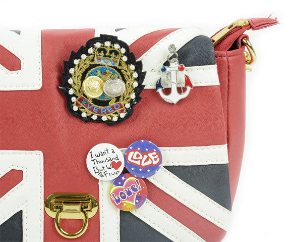 UK Flag Badge Handbag Shoulder Bag - MeetYoursFashion - 6