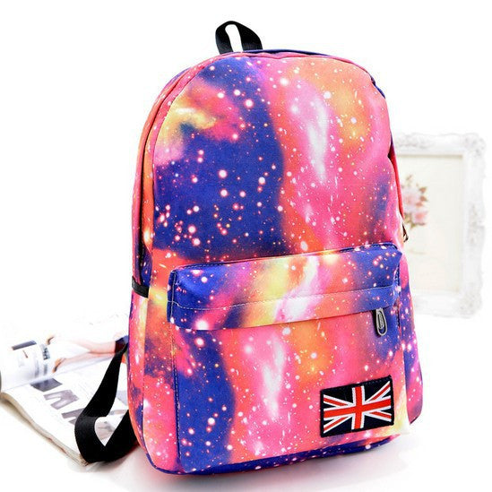 Starry Sky Print Fashion School Backpack - Meet Yours Fashion - 3