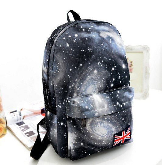 Starry Sky Print Fashion School Backpack - Meet Yours Fashion - 4