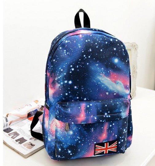 Starry Sky Print Fashion School Backpack - Meet Yours Fashion - 1