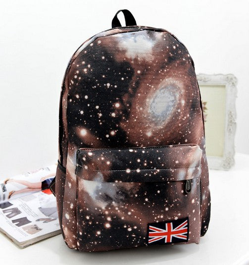 Starry Sky Print Fashion School Backpack - Meet Yours Fashion - 2