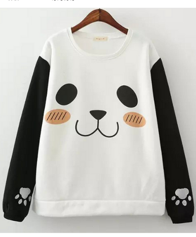 Pullover Print Scoop Long Sleeves Slim Sweatshirt - Meet Yours Fashion - 1