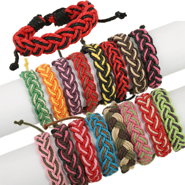 Fashion Color Woven Braided Bracelet