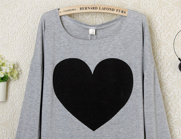 2016 Heart Pattern Long Sleeve T-Shirt - Meet Yours Fashion - 7