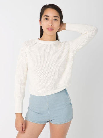Pullover Loose Scoop Retro Bold Lines Sweater - Meet Yours Fashion - 4