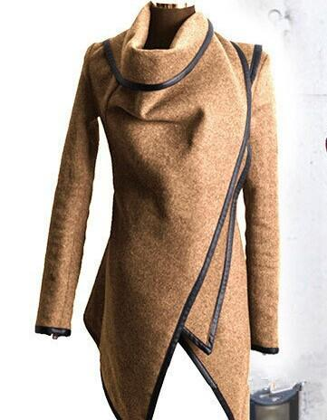 Long Irregular Thickening Woolen Overcoat - Meet Yours Fashion - 3