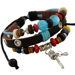 Color Beaded Prayer Wheel Multilayer Bracelet