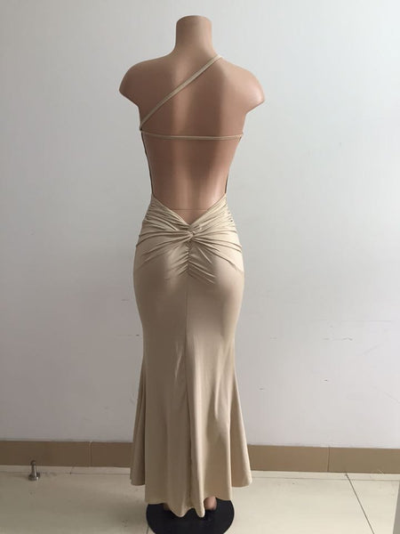 Bandage Backless One Shoulder Mermaid Beach Dress - MeetYoursFashion - 6