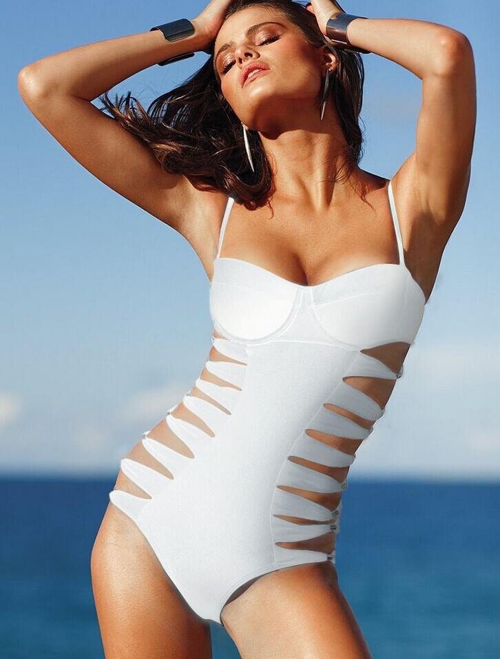 Cut Out Monokini Cut out Spaghetti Strap Swimwear - Meet Yours Fashion - 4