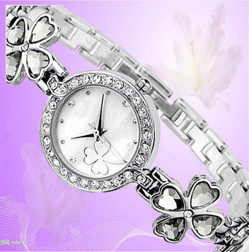 Clover Crystal Alloy Watch