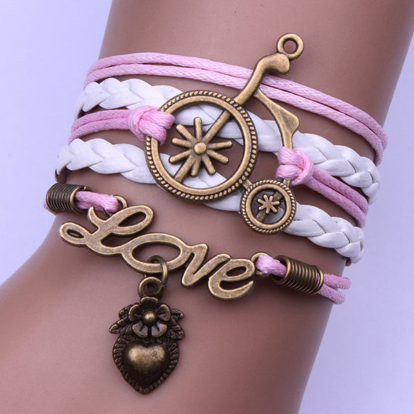 Originality Bicycle Multilayer Woven Bracelet