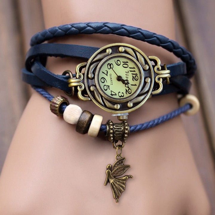 Weave Leather Bracelet Wrist Watch - MeetYoursFashion - 7