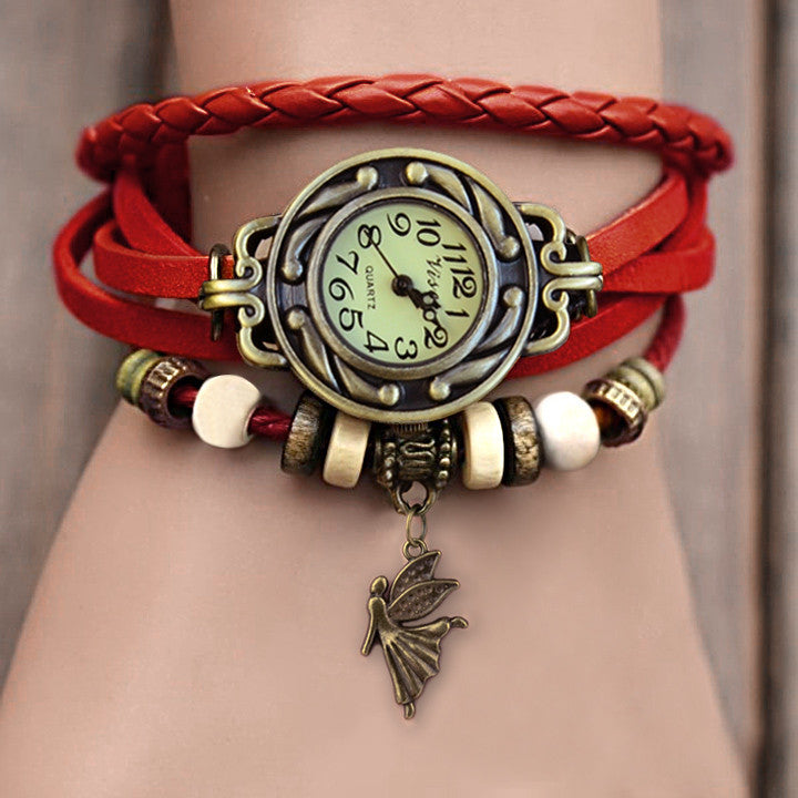 Weave Leather Bracelet Wrist Watch - MeetYoursFashion - 1