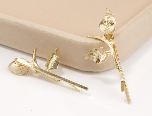 Exquisite Fashion Leaves Hair Clips