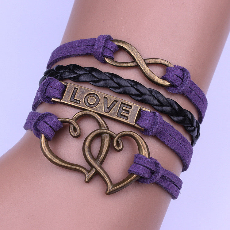 Europe Heart to Heart Handmade Woven Bracelet