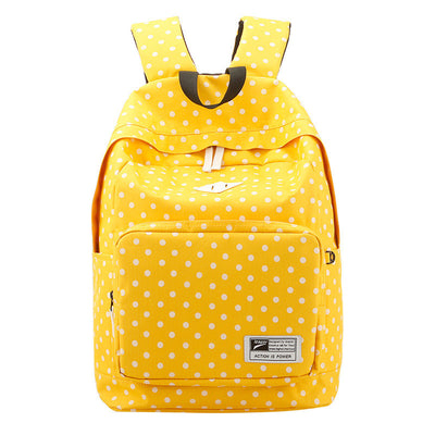 Polka Dot Print Korea School Backpack Travel Bag - Meet Yours Fashion - 1