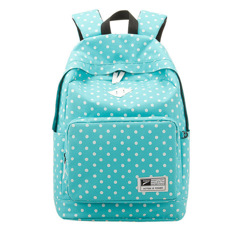 Polka Dot Print Korea School Backpack Travel Bag - Meet Yours Fashion - 2