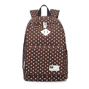 Polka Dot Print Korea School Backpack Travel Bag - Meet Yours Fashion - 5
