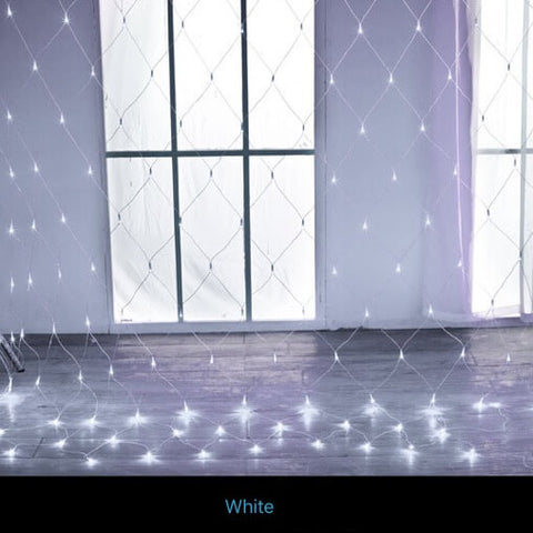 Blue 96 LED Net Mesh Fairy Lights Twinkle Lighting Christmas Wedding Party US/110V