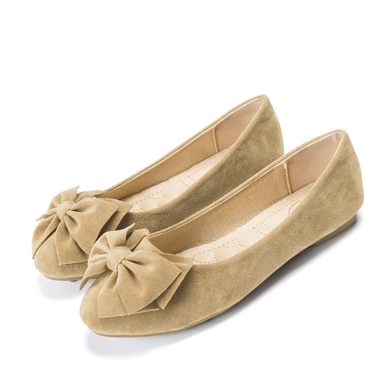 Free Shipping Bowknot Suede Comfortable Flat Shoes Sneaker