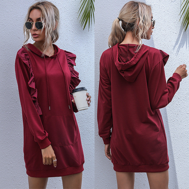 Hooded Lace Sweater Dress