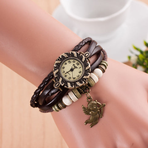 Cupid Retro Fashion Punk Bracelet Watch