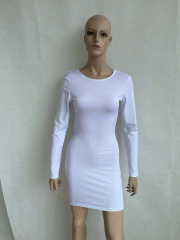 Open Cross Bandage Back Bodycon Mini Dress - MeetYoursFashion - 3