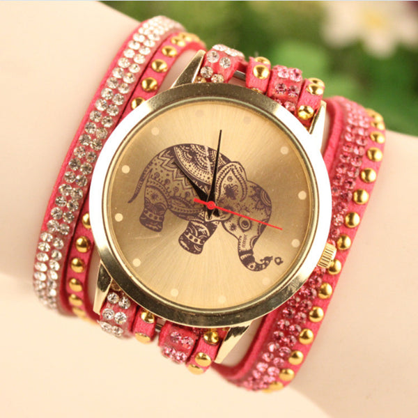 Hot Style Elephant Print Watch