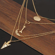 Irregular Triangle Pendant Layered Necklace - MeetYoursFashion - 3