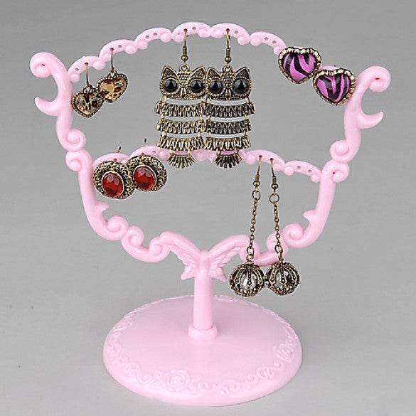 Fashion Retro Style 28 Holes Earrings Ear Studs Jewelry Show Dispaly Stand Holder Rack