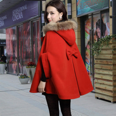 Faux Fur Hooded Sleeveless Cope Loose Short Coat - Meet Yours Fashion - 2