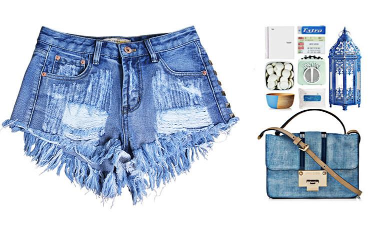 Rivet Rough Edges Loose Ripped Holes Hot Denim Shorts - Meet Yours Fashion - 6