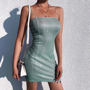 Sparkling Bodycon Sling Short Dress