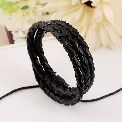 Multilayer Leather Braided Bracelet