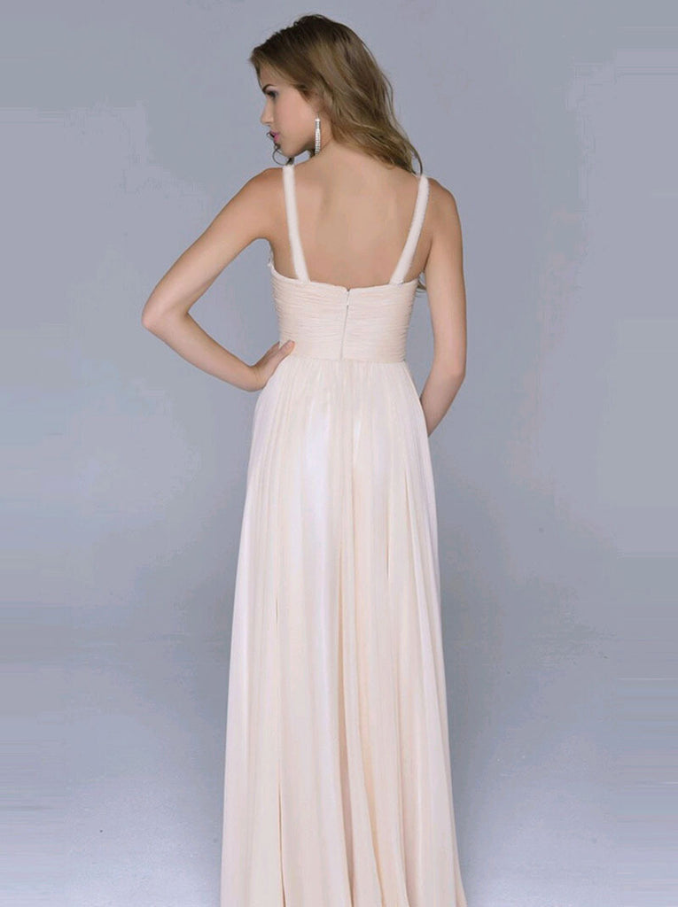 8dc7ccce9 ... Pleated Straps Sequined Ruched Long Prom Dress - MeetYoursFashion - 3  ...
