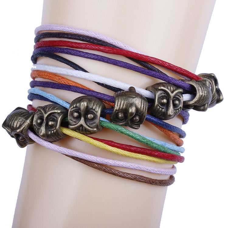 Fashion Owl String Multicolor Bracelet