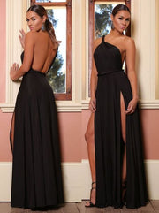 Shinning One Shoulder Backless Long Party Dress - MeetYoursFashion - 3