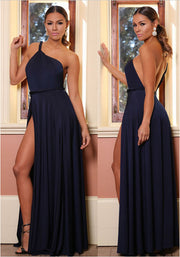 Shinning One Shoulder Backless Long Party Dress - MeetYoursFashion - 8