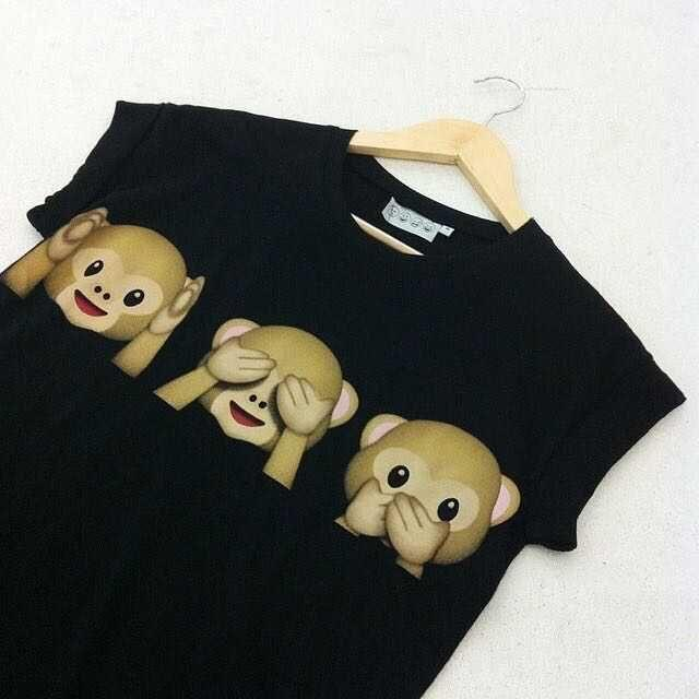 Smile Face Monkey 3D Print Short Sleeve Scoop T-shirt - Meet Yours Fashion - 6