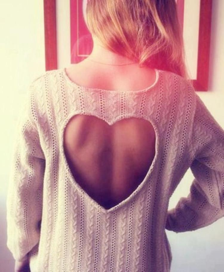 Sweet Heart Hollow Out Knitting Sweater - MeetYoursFashion - 2