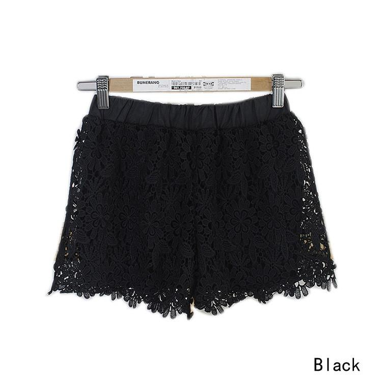 Lace Elastic High Waist Sport Hot Shorts - Meet Yours Fashion - 5