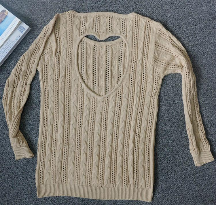 Sweet Heart Hollow Out Knitting Sweater - MeetYoursFashion - 3