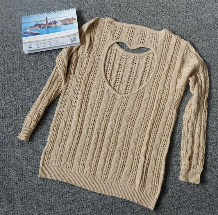 Sweet Heart Hollow Out Knitting Sweater - MeetYoursFashion - 4