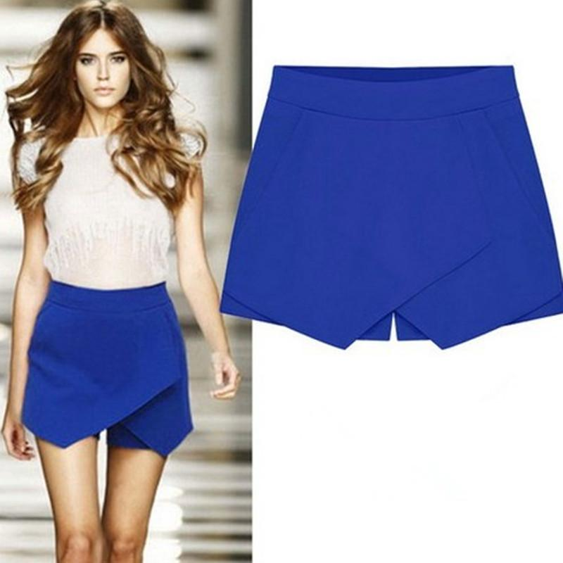 Cross Over High Waist Pure Color Shorts - Meet Yours Fashion - 1